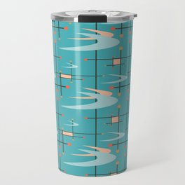Mid Century Modern in Turquoise Travel Mug