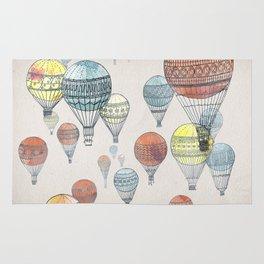 Voyages Hot Air Balloons Rug