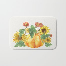 Morning Pumpkins Bath Mat