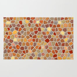 Fall Colors Mosaic Pattern - light Rug