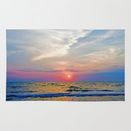 Naples Florida sunset on the Gulf of Mexico Rug