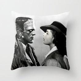 FRANKENSTEIN IN CASABLANCA Throw Pillow