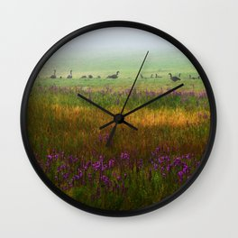 Hidden in the Mist Wall Clock