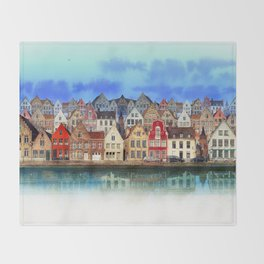 House, Bruges, Belgium Throw Blanket