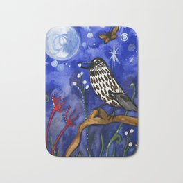 Silver Moon Berries Bath Mat