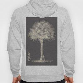 Palm tree - botanical silver illustration Hoody