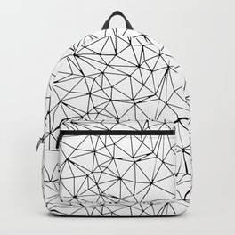 Mosaic Triangles Repeat Seamless Pattern Black and White Backpack