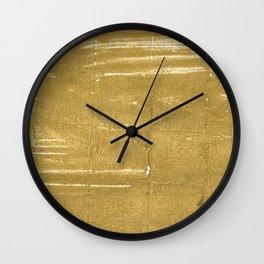 Aztec Gold abstract watercolor Wall Clock