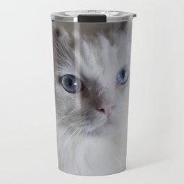 Ragdoll Cat Blue Eyes Travel Mug