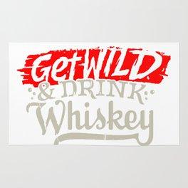 Get Wild & Drink Whiskey Rug
