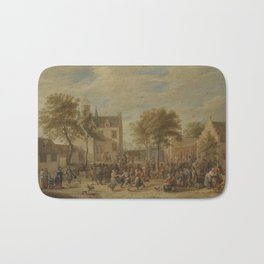 David Teniers the Younger ANTWERP 1610 - 1690 BRUSSELS A KERMESSE WITH VILLAGERS MAKING MERRY IN A T Bath Mat
