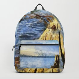 Zen at sunset in Yellowstone National Park, Wyoming Backpack