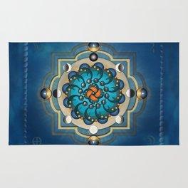 Mandala Moon Phases Rug