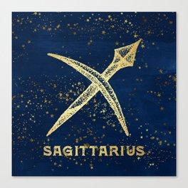 Sagittarius Zodiac Sign Canvas Print