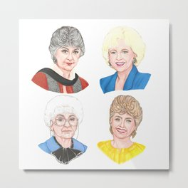 Golden Girls Square Metal Print