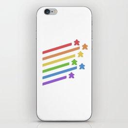 Rainbow Meeples Board iPhone Skin