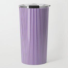Purple Pinstripes Travel Mug