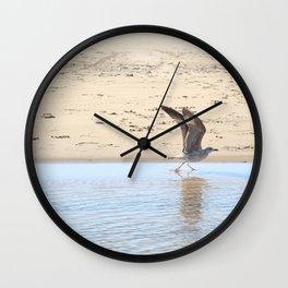 Seagull bird taking off Wall Clock