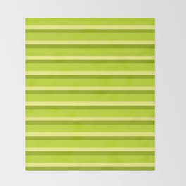 Lime Green Stripes Throw Blanket