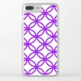 Interlocking Purple Clear iPhone Case