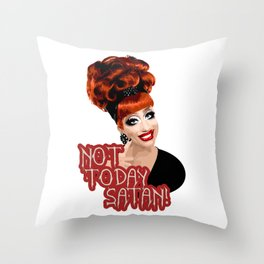 'Not Today Satan!' Bianca Del Rio, RuPaul's Drag Race Queen Throw Pillow