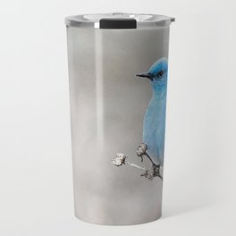 Mountain Bluebird on the Tansy Travel Mug