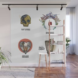 4 Biblical phrases Wall Mural