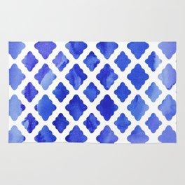 Watercolor Diamonds in Cobalt Blue Rug