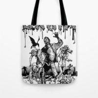 brain Tote Bags featuring Brain by Christian G. Marra