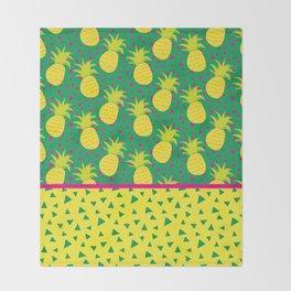 Pineapple fever Throw Blanket