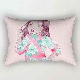 bayley dress Rectangular Pillow
