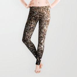 Sparkling GOLD BLACK Lady Glitter #1 #decor #art #society6 Leggings