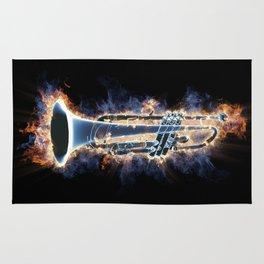 Fire trumpet in concert Rug