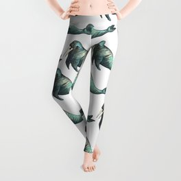 sea lion pattern Leggings