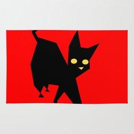 The Strut (Black Cat) Rug