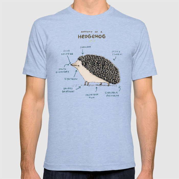 Anatomy of a Hedgehog T-shirt by sophiecorrigan | Society6