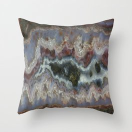 Cady Mountain Banded Agate Throw Pillow