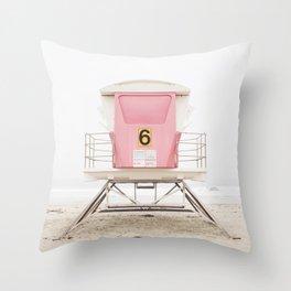 Pink Tower 6 Throw Pillow