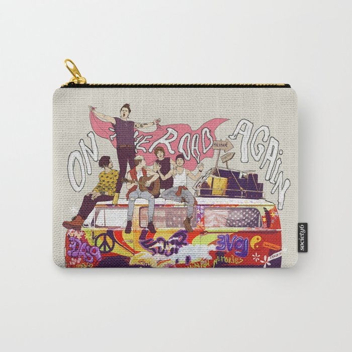 """"""" ON THE ROAD AGAIN """" Carry-All Pouch"""