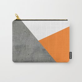 Concrete Tangerine White Carry-All Pouch