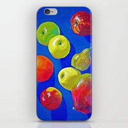 Blue fruits iPhone Skin