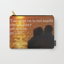 Love is in the air. Romantic sunset for two young lovers. Carry-All Pouch