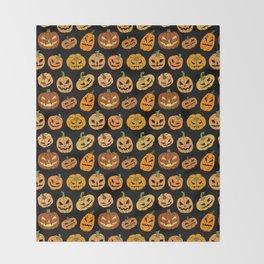 Jack o' Lantern Throw Blanket