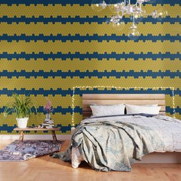 Honeycomb Blue Wallpaper