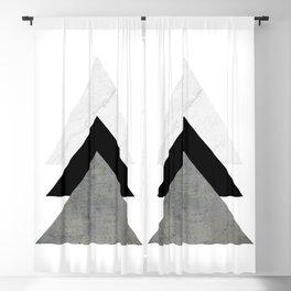 Arrows Monochrome Collage Blackout Curtain