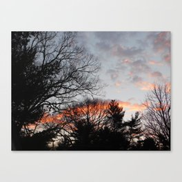 red clouds in the sky Canvas Print