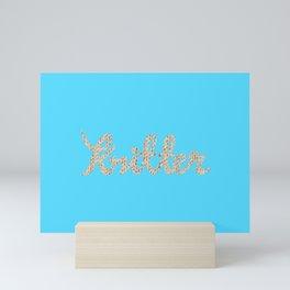 Knitter Mini Art Print