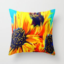 Girasol Nine Throw Pillow