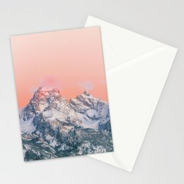 Alpenglow LIVING CORAL Mountain Sunset Stationery Cards
