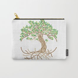 Rope Tree of Life. Rope Dojo 2017 white background Carry-All Pouch